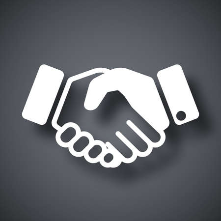 welcome business: Vector handshake icon Illustration