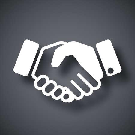 hand shake: Vector icono de apretón de manos Vectores