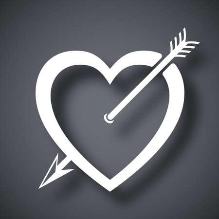 amur: Vector heart icon with arrow