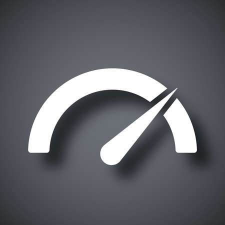 high speed: Vector performance measurement icon