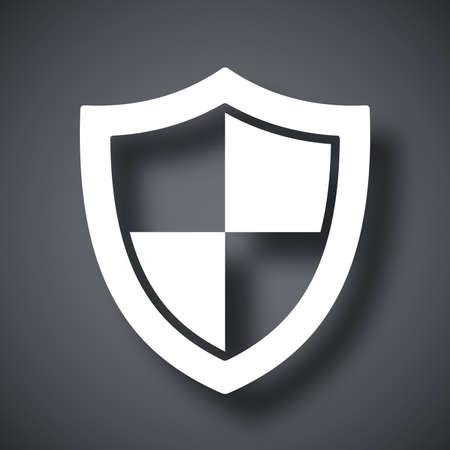 guardia de seguridad: Icono de protección vectorial