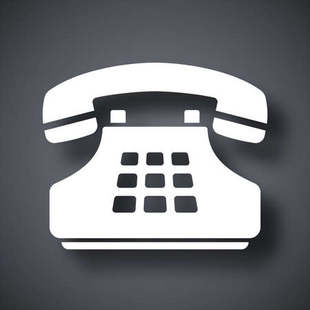 the phone rings: Vector push-button telephone icon Illustration