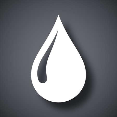 Vector rain drop icon Çizim
