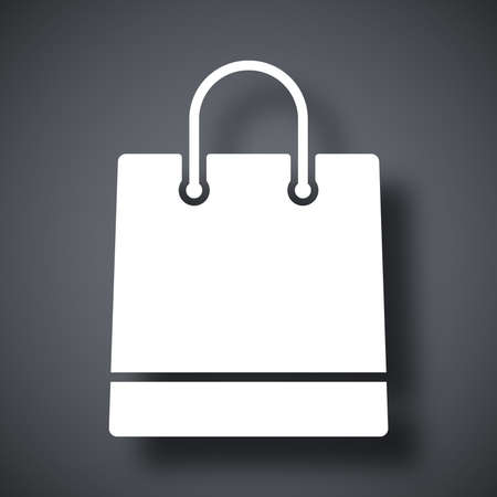 shopping bag icon: Vector shopping bag icon