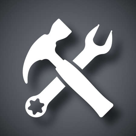 screw head: Vector tools icon Illustration