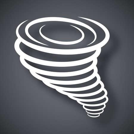 tornado wind: Vector Tornado Icon Illustration