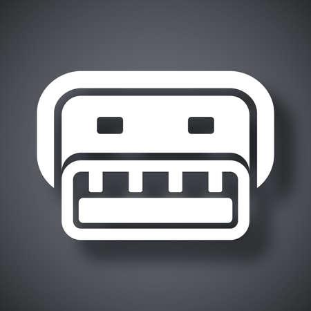 connector: Vector usb connector icon Illustration