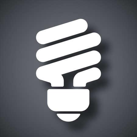 light bulb icon: Vector saving light bulb icon