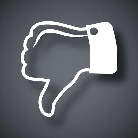 pushbutton: Vector thumb down icon Illustration