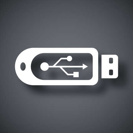flash drive: Vector usb flash drive icon