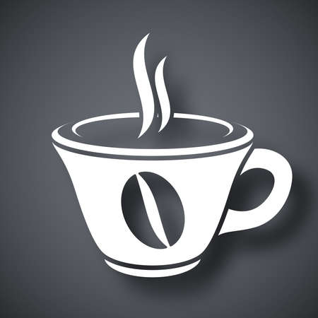 hot cup: Vector cup of hot coffee icon