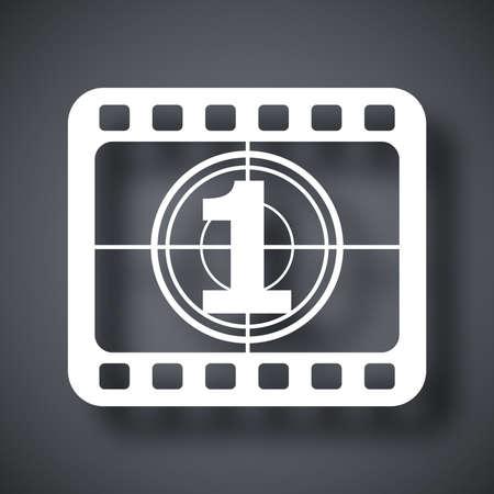 roll film: Vector tira de pel�cula icono Vectores