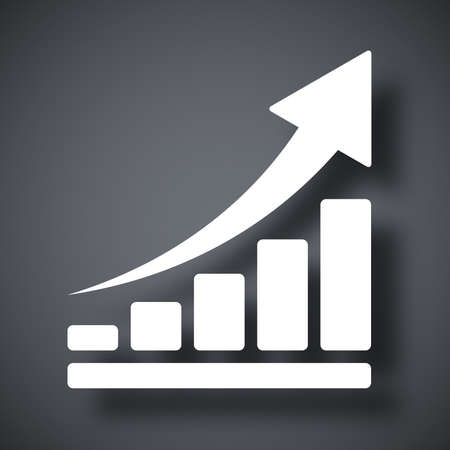 growth arrow: Vector growing graph icon