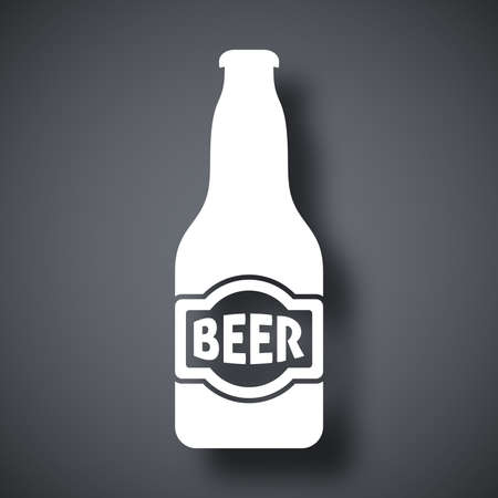 beer house: Vector beer bottle icon