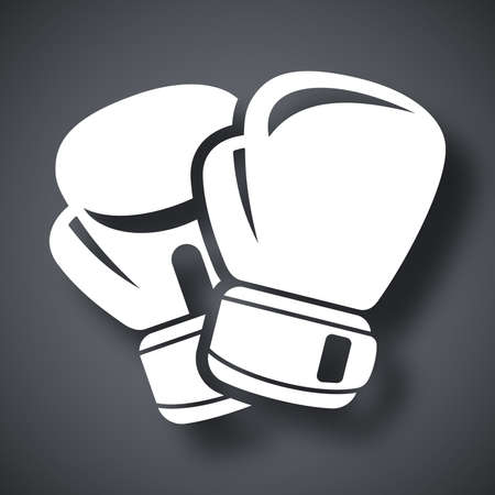 boxing sport: Vector boxing gloves icon Illustration
