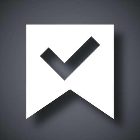 check mark icon: Vector check mark icon