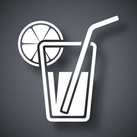 soda pop: Vector glass of juice icon
