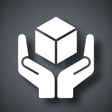 care symbol: Vector handle with care icon Illustration