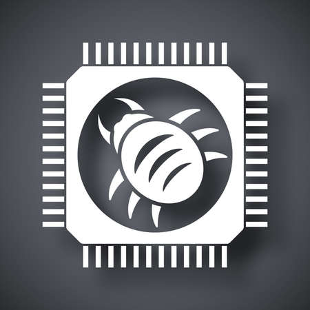 Vector hardware bug icon