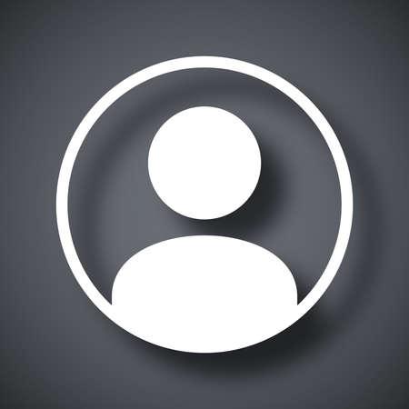 Vektor-Benutzersymbol Vektorgrafik