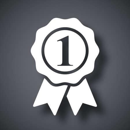 primer lugar: Vector icono primer lugar Vectores