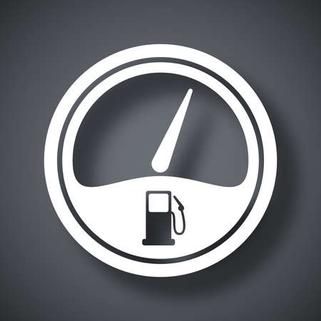 fossil fuel: Vector fuel gauge icon
