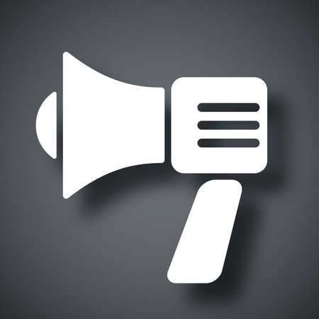 broadcasting: Vector megaphone icon