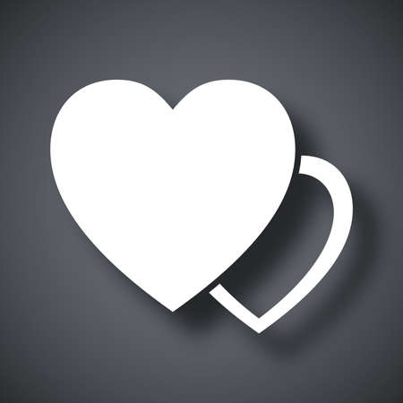 heart month: Vector two heart icon Illustration