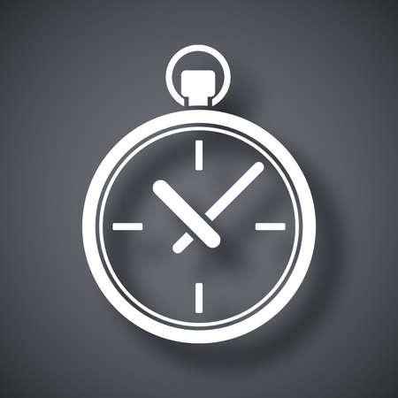 Vector icono de reloj de bolsillo Foto de archivo - 43646992