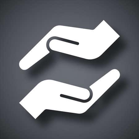 Vector protecting hands icon 版權商用圖片 - 43692255