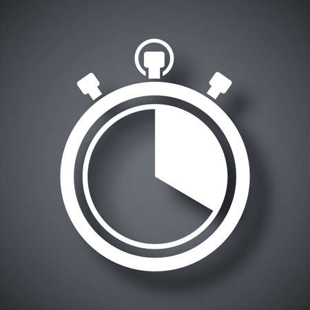 round the clock: Vector stopwatch icon Illustration