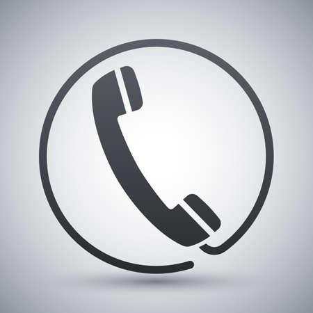 telephone receiver: Vector telephone receiver icon