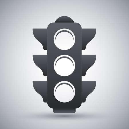 trafficlight: Vector traffic light icon Illustration