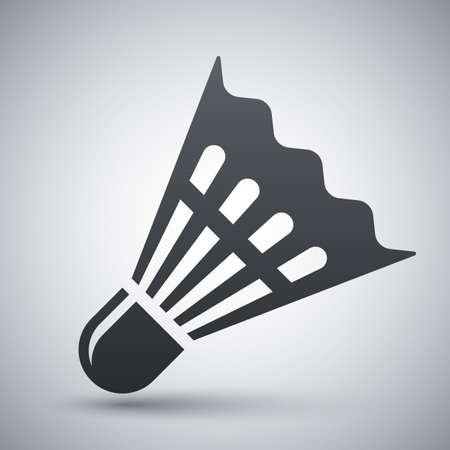 badminton: Vector badminton shuttlecock icon