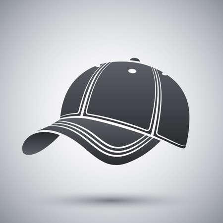 baseball cap: Vector baseball cap icon