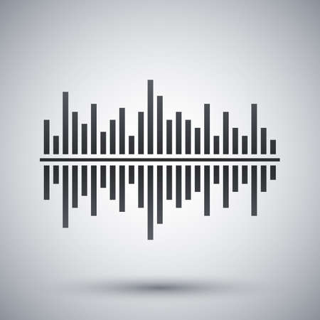 digital: Vector digital equalizer icon