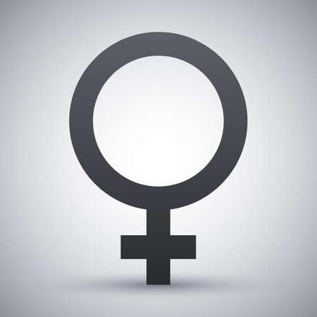 sex symbol: Vector female sex symbol