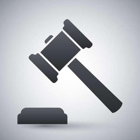martillo juez: Vector icono juez martillo