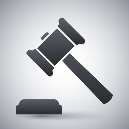 judges: Vector judge gavel icon