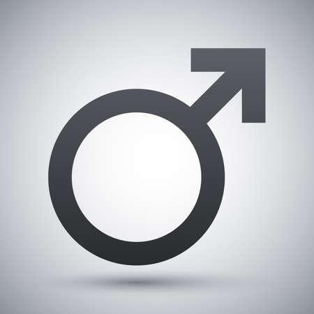 sex symbol: Vector male sex symbol Illustration