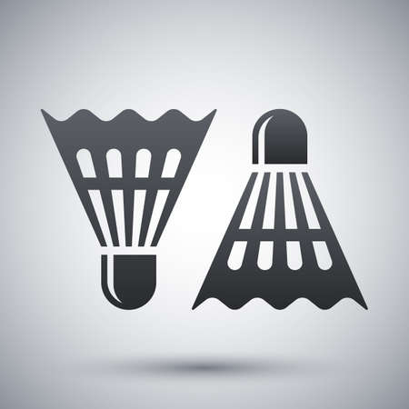 badminton: badminton shuttlecocks icon Illustration