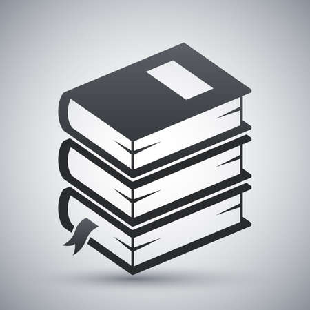 bookmarking: stack of books icon