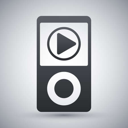 music player: Music player icon, vector