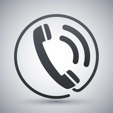 receiver: Telephone receiver icon, stock vector Illustration