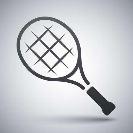 tennis racket: Vector tennis racket icon