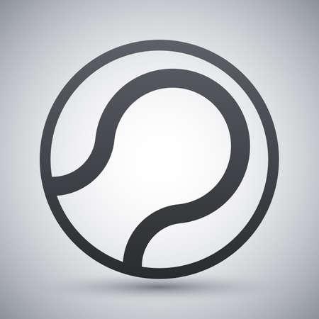 wimbledon: Vector tennis ball icon