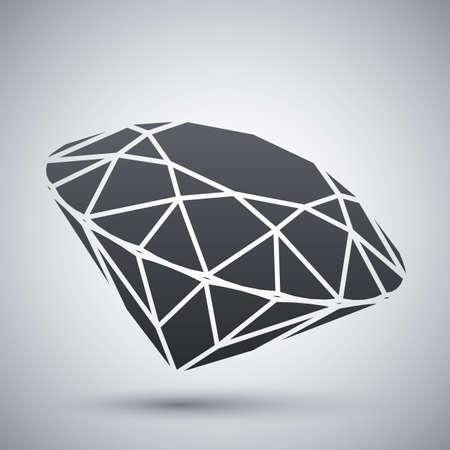 jewellery: Vector diamond icon
