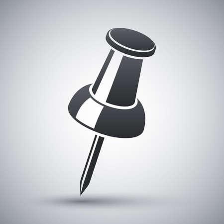 Vector pushpin icon Illustration