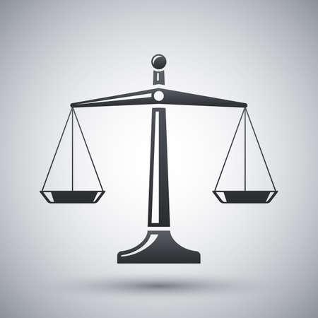 balanza en equilibrio: vector balanzas de icono de la justicia