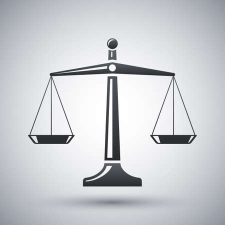 balance icon: Vector scales of justice icon
